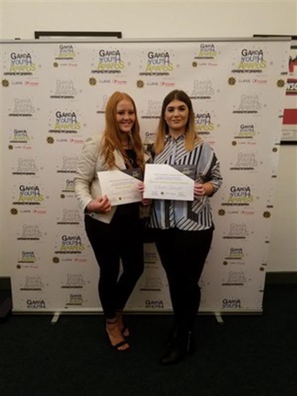 TCS Students honoured at the Garda Youth Awards