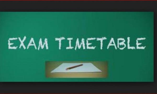Christmas Exams Timetable
